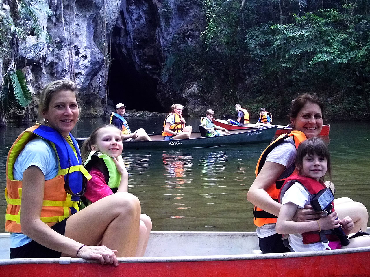Cave Canoeing at Barton Creek Cave