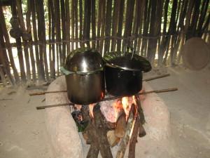 Cooking Tamales at Belize Botanic Gardens' Maya House